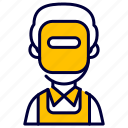 avatar, man, profession, welder icon