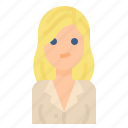 blond, business, avatar, woman, women icon
