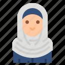 avatar, business, muslim, woman, women icon