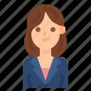 avatar, beautiful, hair, length, shoulde, woman, women icon