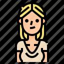 avatar, beautiful, blond, woman, women icon