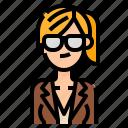 avatar, business, ponytail, woman, women icon