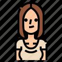 avatar, beautiful, hair, long, parting, woman, women icon