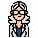 avatar, business, gray, woman, women icon