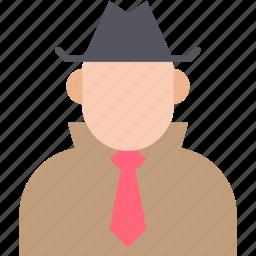 detective, investigator, secret agent, security agent, spy icon