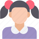 girl, girl avatar, teenager, teener, young girl icon