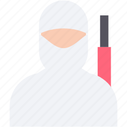burglar, criminal, ninja, robber, thief icon