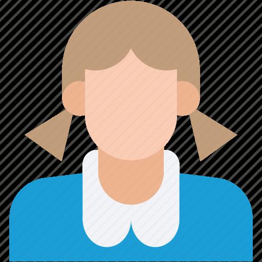 female student, girl, student, teenager, teener icon