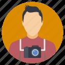 male avatar, cameraman, photographer, paparazzi, professional