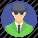 agent, investigator, private agent, private detective, private investigator icon