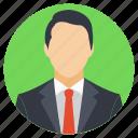 business representative, chief executive, company head, professional representative, successful businessman icon