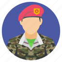 army, high ranking soldier, military personnel, military rank, soldier icon