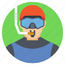 deep sea diver, sea diving, swimmer suit, underwater exploration, underwater swimming icon