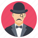agency, british spy, private detective, private investigator, secret agent icon