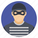burglar with a mask, masked burglar, masked man, thief, thief avatar icon