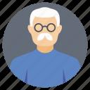 elderly person, grandfather, old man, old man avatar, senior citizen icon
