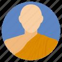 buddhist monk, medieval monk, monastery, religious profile, religious representative icon