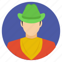 country boy, cowboy, cowboy hat, western cowboy, wild west icon