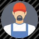 avatar plumber, plumber, plumber with beard, plumbing, plumbing tasks icon