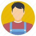 chef, cooking apprentice, junior chef, man wearing apron, man with apron icon