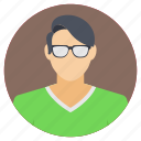 avatar of a man, man with glasses, profile of man, simple man, stylish man icon