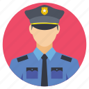 avatar of police officer, officer on call, police officer, policeman, policeman profile icon