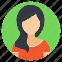 fashionable hairstyle, fashionista, long hair, stylish hair, woman avatar icon