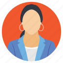female employee, female profile, profession, woman at work, woman avatar icon
