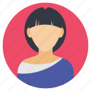 designer profile, fashion designer, female worker, profession, woman avatar icon