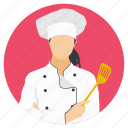 cooking apron, female chef, female cook, professional chef, restaurant chef