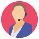 customer representative, female employee, female representative, woman avatar, working woman