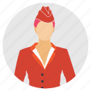 air hostess, airline employee, female worker, professional individual, woman avatar