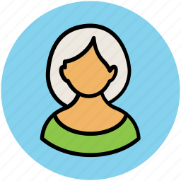 avatar, female, feminine, housewife, madam, short hair, woman icon