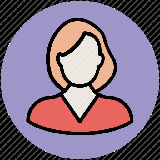 avatar, female, feminine, lady, short hair, woman icon