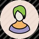 avatar, fashionable, girl, modish, short hair icon