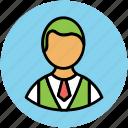 avatar, boy short hair, boy with necktie, guy, person icon