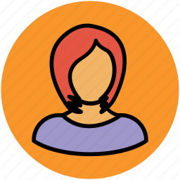 female avatar, girl, girl with blonde hair, lady, woman face, women icon
