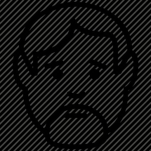 avatar, beard, emoticon, man, user icon