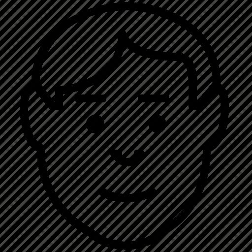 avatar, emoticon, happy, man, smile, user icon
