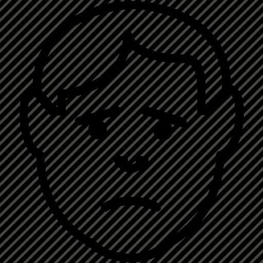 avatar, emoticon, emoticons, expression, sad, unhappy icon