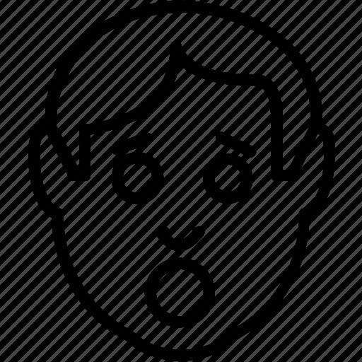 avatar, emoticon, emoticons, emotion, shock, shocked icon