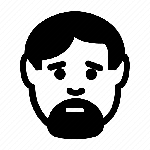 avatar, beard, emoticon, man, user icon