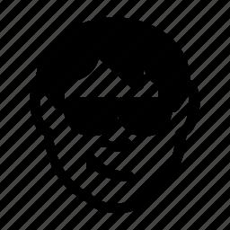 avatar, cool, emoticon, man, person, smile, sunglasses icon