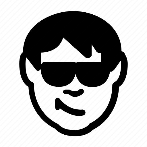 Cool Avatars: Avatar, Cool, Emoticon, Man, Person, Smile, Sunglasses Icon