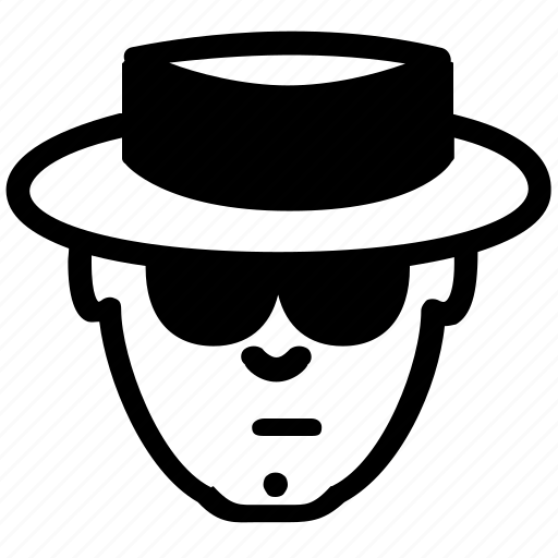 avatar, emoticon, hat, sunglasses, suspicious, user icon