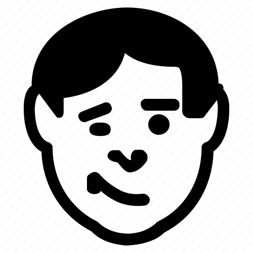 avatar, emoticon, emotion, expression, smile, wink icon