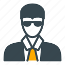 avatar, banker, man, person, profile, suit icon