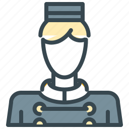 avatar, bell, boy, hotel, man, person, profile icon