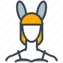avatar, bunny, girl, person, profile, woman icon