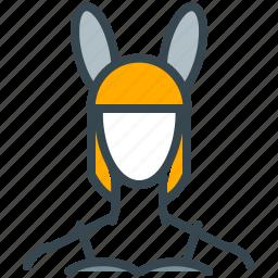 avatar, bunny, girl, person, profile, woman icon